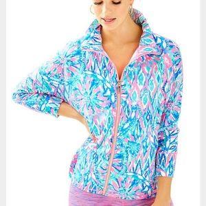 Lilly Pulitzer Zip Up Sweatshirt Jacket Sz XS Tiki